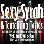 Sexy Syrah at Salty's on Alki ~ Wed. April 30th