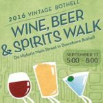 Vintage Bothell Wine, Beer, & Spirits Walk Sat. Sept. 17