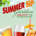 Summer Sip In The Garden Sun June 25