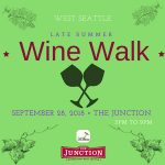 West Seattle Late Summer Wine Walk Sept 28