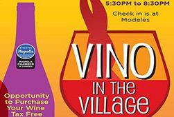 VINO IN THE VILLAGE – MAGNOLIA – Fri. Oct. 16, 2020